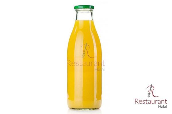 Jus d'orange bouteille verre